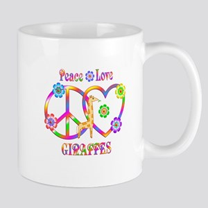 Peace Love Giraffes 11 oz Ceramic Mug