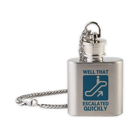 Escalated Quickly Flask Necklace