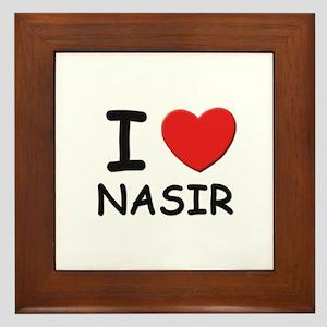 I love Nasir Framed Tile