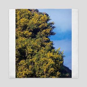 Yellow Flower Cliffs Queen Duvet