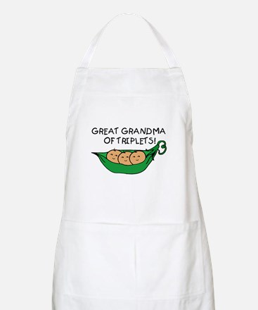 Great Grandma of Triplets BBQ Apron