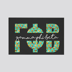 Gamma Phi Beta Letters Emoji Rectangle Magnet