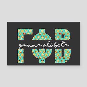 Gamma Phi Beta Letters Emoji Rectangle Car Magnet