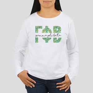 Gamma Phi Beta Letters Women's Long Sleeve T-Shirt