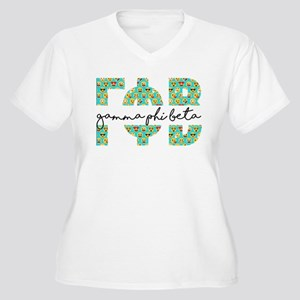 Gamma Phi Beta Le Women's Plus Size V-Neck T-Shirt