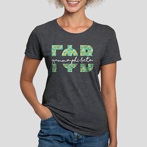 Gamma Phi Beta Letters Em Womens Tri-blend T-Shirt