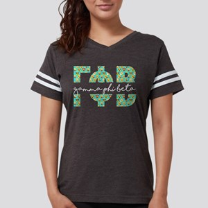 Gamma Phi Beta Letters Emoji Womens Football Shirt