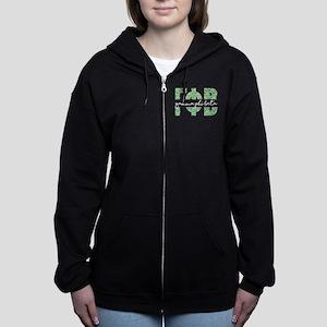 Gamma Phi Beta Letters Emoji Women's Zip Hoodie