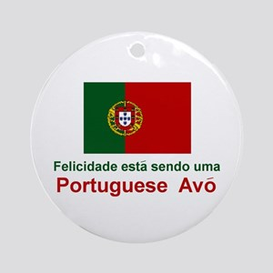 Happy Portuguese Avo (Grandmother) Ornament (Round