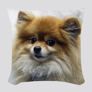 Pomeranian Cutie Woven Throw Pillow