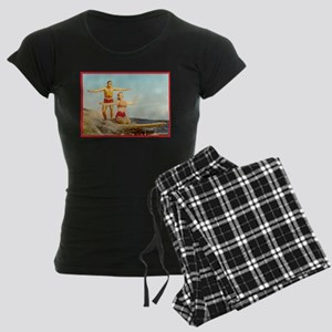 vintage surfers Women's Dark Pajamas