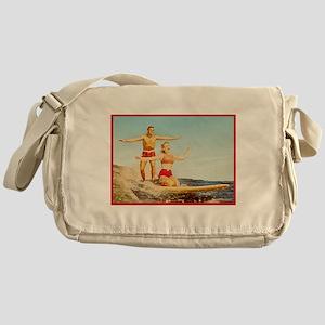 vintage surfers Messenger Bag