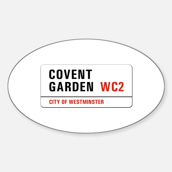 Covent Garden, London - UK Oval Decal