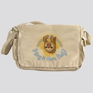 Hang In There Sloth Messenger Bag