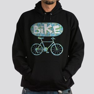 Patterned Bicycle Text Oval Hoodie (dark)