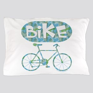 Patterned Bicycle Text Oval Pillow Case