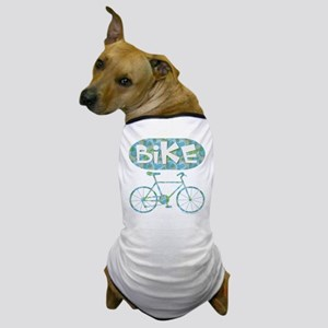 Patterned Bicycle Text Oval Dog T-Shirt