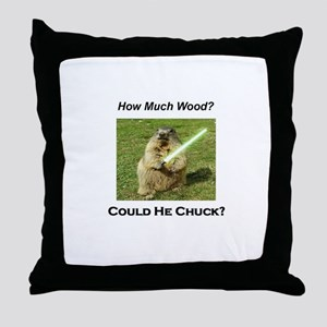Funny woodchuck Throw Pillow