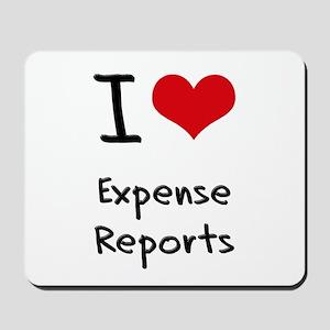 I love Expense Reports Mousepad