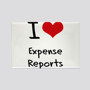 I love Expense Reports Rectangle Magnet