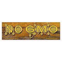 No GMO Crop Circle on a Van Gogh Bumper Bumper Sticker