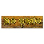 No GMO Crop Circle on a Van Gogh Bumper Sticker