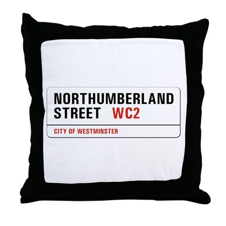 Northumberland St., London - UK Throw Pillow
