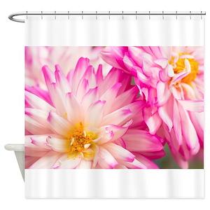 Dahlias Shower Curtains