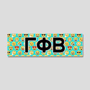 Gamma Phi Beta Emoji Letters Car Magnet 10 x 3