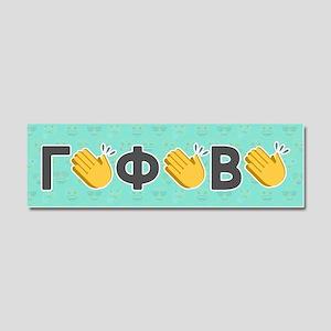Gamma Phi Beta Emoji Clap Car Magnet 10 x 3