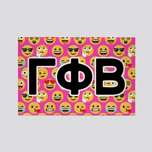 Gamma Phi Beta Emoji Letters Pink Rectangle Magnet