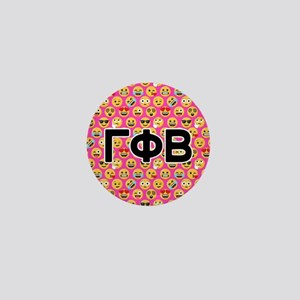 Gamma Phi Beta Emoji Letters Pink Patt Mini Button