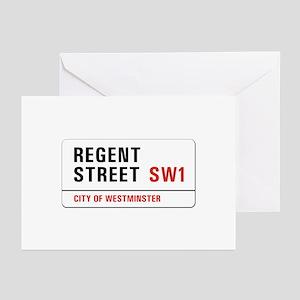 Regent Street, London - UK Greeting Cards (Package