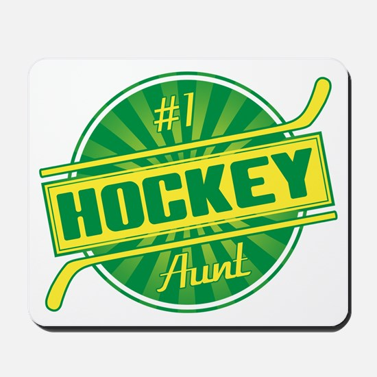 #1 Hockey Aunt Mousepad