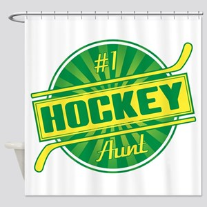#1 Hockey Aunt Shower Curtain