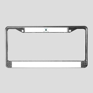STICKS AND HELMET License Plate Frame