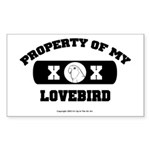 Team Lovebird Rectangle Sticker