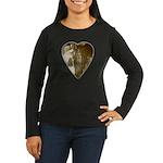 Friesian Crazy Women's Long Sleeve Dark T-Shirt