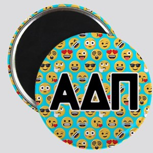 Alpha Delta Pi Emoji Letters Blue Pattern Magnet