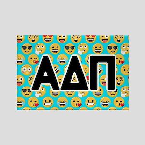 Alpha Delta Pi Emoji Letters Blue Rectangle Magnet