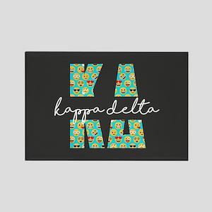 Kappa Delta Letters Emoji Rectangle Magnet