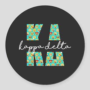 Kappa Delta Letters Emoji Round Car Magnet