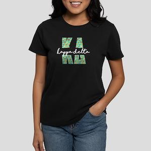 Kappa Delta Letters Emoji Women's Dark T-Shirt