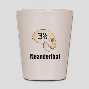 Three Percent Neanderthal Shot Glass