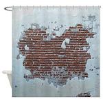 Plaster and Brick Grunge Shower Curtain