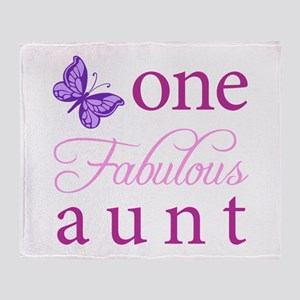One Fabulous Aunt Throw Blanket