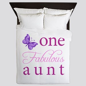 One Fabulous Aunt Queen Duvet