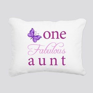One Fabulous Aunt Rectangular Canvas Pillow