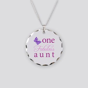 One Fabulous Aunt Necklace Circle Charm