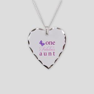 One Fabulous Aunt Necklace Heart Charm